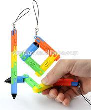 New Fold pen & Folding plastic pen with light & magic pen MDS-P6111