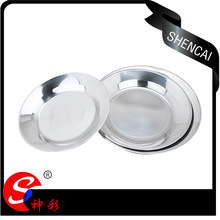 Popular Durable Stainless Steel Dinner Food Plates / Dishes