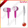 Top voice cute invisible earpiece customer logo in ear studio earphones earbuds