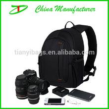 2014 hot sale nylon classic black DSLR camera bag