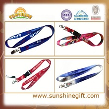 silkscreen printed advertising promotional lanyard with pvc badge holder