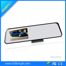 Top delle vendite 4.3'' specchietto retrovisore doppio record gps retromarcia telecamera di parcheggio