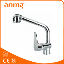 Brass kitchen mixer faucet