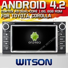 WITSON android car dvd Android OS 4.4 car dvd gps for TOYOTA UNIVERSAL