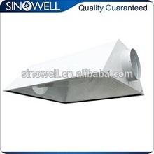 "ETL listed 6"" grow light reflector hood air cooled hood for hydroponic hps mh grow lamps"