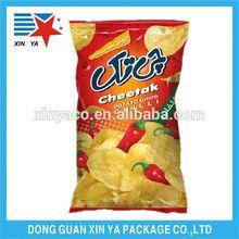 pet/al/pe back mid seal potato chips packaging bag