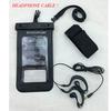 hot sale pvc waterproof phone bag with earphone