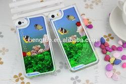 aqua liquid mobile phone cover for iphone