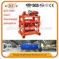 Trabajos de verano y de la electricidad! Hongfa qtj4- 40b2 manual de operación de semi- automatico pequeños ladrillos de concreto que hace la máquina