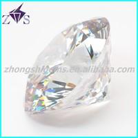 China round brilliant cut white cz stone