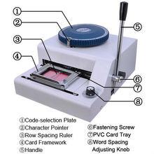 Manual Embossing Machine magnetic PVC Card Embosser 70letters