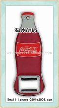 logo printed bottle opener keychain/wholesale skeleton key bottle opener/keychain bottle opener