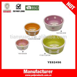 Cute Wholesale Ceramic Bone Shape dog bowl