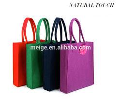 BSCI audit factory felt tote bags/wholesale felt bags