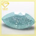 Alto nivel de hielo luz azul marquesa corte zirconia cúbico/de piedras preciosas