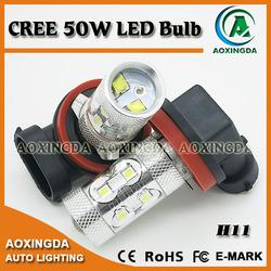 H11 CREE 50W LED fog light bulb xenon white 12~24V