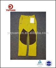 Hot sale!High Quality Women's yellow custom waterproof pants with side pockets, Ladies leisure pants,women's hot pants