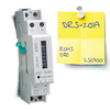 Single phase two wire din rail type energy meter/kwh meter/FACTORY/watt hour meter