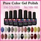 No169~No192 Gel nail polish of MingShan cnd shellac 15ml with 238 colors for lamp