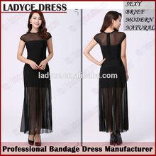 wholesale black long dress chiffon 2014 evening dress