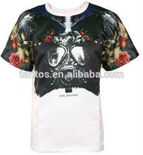 hong kong brilliant color o- neck all size printing short sleeve t shirts
