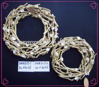 2014 newest fashion wooden crafts wooden wreath