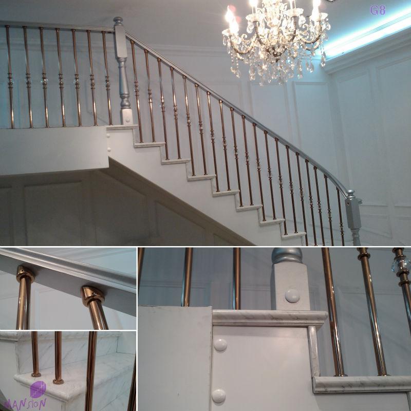Interior barandilla de la escalera para escaleras o balcón
