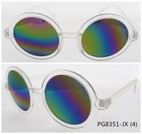 2014 hot sale cheap retro sunglasses mirror lens transparent frame revo
