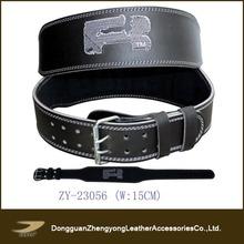 2014 Custom power lifting leather belt, high quality weight lifting belt