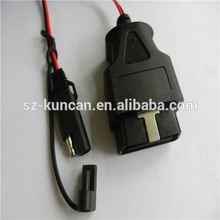 moulded 12V/24V obdii bluetooth car diagnostic SPT-2 18AWG red and black manufacture low price szkuncan