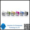 Mini altofalante digital td-v26 falante portátil usb caixa de som de apoio tf sd card+fm radio+u disco display lcd 6 cores