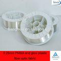 Pmma 0.25mm fine bagliore di plastica tessuto in fibra ottica