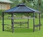 outdoor strong frame aluminum gazebo / aluminum pergola manufacturer