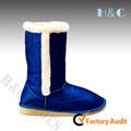 Brillo superior de piel sintética trim ningbo zhejiang china de invierno botas para la nieve de fábrica auchan, carrefour proveedor de walmart