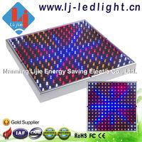 14W led grow light panel 225x0.06W red 630nm blue 460nm orange 610nm white 12000k