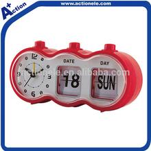 automatic flip calendar clock