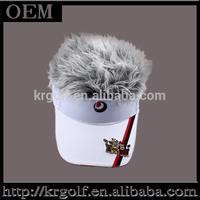 New Embroidered Lions Wig Hat Sliver Gray Fake Hair Hat Bucket Golf Sunvisor Baseball Adjustable Visor Snapback Hat With