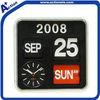 Calendar flip wall clock