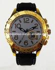 2014 fashion golden japan movt quartz watch stainless steel back