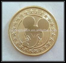 Popular custom golden Brass tokens coin