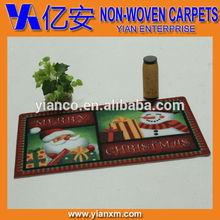 High definition Santa Claus design Christmas printed fancy door mats