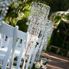 Cheap iridescent acrylic crystal chandelier with teardrop for weddings wholesale