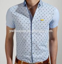 2014 nueva llegada de camisa de manga corta para los hombres, slim fit camisa casual los hombres, fotos de hombre camisa de vestir