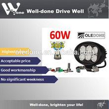 60w tractor led cree XM-L2 work light, luminance winner product, ip68 high anti-vibration work light WD-6L60