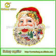 2014 Runxiang 3D Glitter Paper 3d christmas stickers