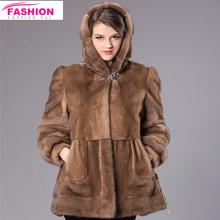 Wholesale 2014 Hot sale genuine mink fur coat