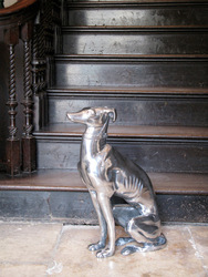 Interior decorative bronze greyhound home decor dog statue