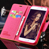 Fashion Canvas Standing Flip Leather Case For Samsung Galaxy S5 I9600 RCD03858