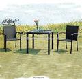 dışında örnek siyah rattan boş sandalye bahçe seti