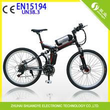 new design folding mountain electric dirt bike A9 with EN15194